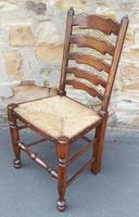 Set of 12 Oak Ladder Back Dining Chairs - Royal Oak Furniture (6 of 15)