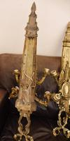 Pair of 5 branch wall lights height 3ft 3 inch brass (free shipping to mainland england) (9 of 11)