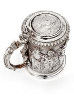 Ornate Victorian Electro Formed Silver Plated Lidded Tankard with Figural Scenes of Musicians (11 of 13)
