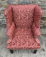 Victorian Mahogany Framed Wing Armchair (3 of 15)