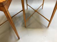 Pair of Edwardian Satinwood Occasional Tables (7 of 11)
