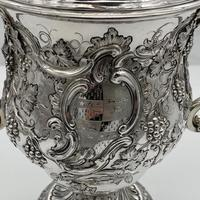 Antique George II Large Rococo Silver Cup & Cover London 1755 William Grundy (9 of 12)