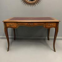 French Red Leather Top Bureau Plat (5 of 9)