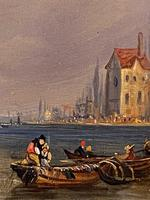After Clarkson Stanfield - Very Interesting Small Oil Painting on Panel (2 of 5)