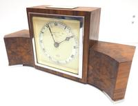 Perfect Burr Walnut Vintage Mantel Clock Art Deco Mantle Clock by Elliott of London (4 of 10)