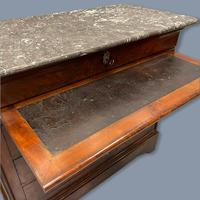 French Marble Top Commode with Writing Surface (3 of 9)