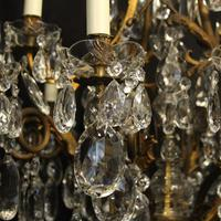 French Gilded Bronze 17 Light Antique Chandelier (4 of 10)