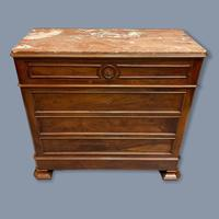 French Charles X Style Marble Top Commode (2 of 9)