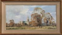 Oil Painting on Canvas 'Chichester Cathedral' Signed Edward Wesson (3 of 3)