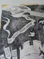 """William Papas """" Canterbury """" Ink Drawing 1970's - 1 of 6 Listed (3 of 10)"""