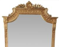 Large 19th Century Gilt Hall or Dressing Mirror (2 of 3)