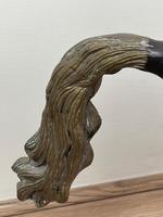 Circa 1920 Gilt Bronze Sporting Pacing Horse Statue Influenced By Giambologna (16 of 42)