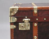 Early 20th Century Leather Bound ex Army Trunk (10 of 11)