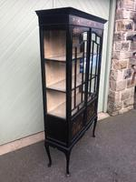 Antique Chinoiserie Lacquered Display Cabinet (5 of 9)