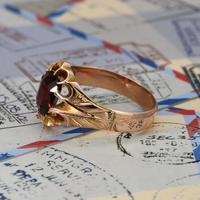 The Antique Edwardian 1904 Rose Gold Garnet Ring (2 of 6)
