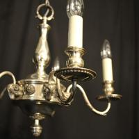 English Silver Plated 5 Light Antique Chandelier (8 of 10)