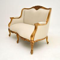 Louis Style French Giltwood Sofa c.1950 (3 of 12)