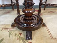 Antique Breton Side Table with Rush Seats (8 of 15)