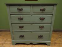 Antique Gustavian Style Blue Painted Chest of Drawers (10 of 18)