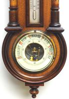 Antique combination HAC 8 Day Wall Clock Clock displays clock, barometer and thermometer (4 of 10)
