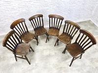 Matched Set of 6 Windsor Lathback Kitchen Chairs (3 of 7)