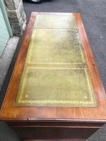 Antique Walnut Pedestal Writing Desk (7 of 13)