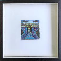 Original Gouache Painting 'A new world' by Richard Walker 1925-2009. Studio stamped. Framed (3 of 3)