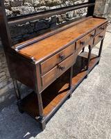 Antique Georgian Oak Potboard Dresser (10 of 28)