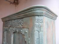 Handmade Indian Mango & Teak Large Painted Light Green 2 Door Storage Cupboard (2 of 9)