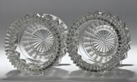 Pair of early 19th century Anglo Irish round, cut glass salts (2 of 3)
