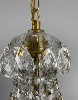 Early 20th Century Bag Chandelier, Ceiling Light, Rewired (9 of 12)