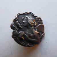 Set of 6 .925 Silver Art Nouveau Buttons in Case (3 of 6)