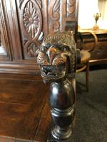 Victorian Antique Green Man Carved Oak Settle / Hall Seat / Monks Bench (2 of 10)
