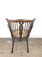 Edwardian Windsor Stick Back Armchair with Cane Seat (3 of 14)