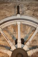 Huge Painted Ships Wheel c.1850 (3 of 4)