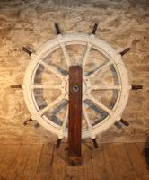 Huge Painted Ships Wheel c.1850 (2 of 4)