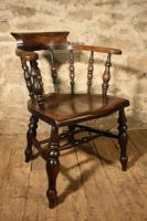 Smokers Bow Armchair c.1880 (3 of 5)
