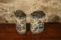 Pair of Willow Pattern Tins (4 of 4)