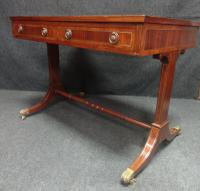 Excellent Quality Brass Inlaid Mahogany Sofa Table (3 of 7)