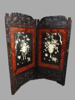 Wonderful Chinese Lacquered Screen c.1880