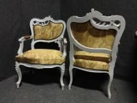 Pair of French Fauteuil Armchairs c.1880 (5 of 6)