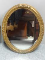 Pair of French Gilt Oval Wall Mirrors c.1890 (5 of 7)