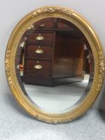 Pair of French Gilt Oval Wall Mirrors c.1890 (7 of 7)