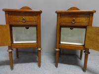 Pair of Super Satinwood Bedside Cabinets c.1890 (7 of 7)