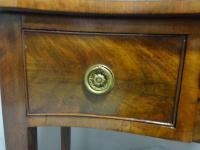Good Mahogany Serpentine Side Table c.1900 (5 of 7)
