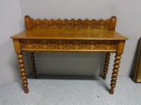Good Light Oak Console Hall Table c.1880 (6 of 6)