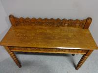 Good Light Oak Console Hall Table c.1880 (5 of 6)