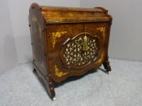 Superb Victorian Burr Walnut Inlaid Canterbury (11 of 12)