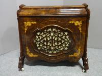 Superb Victorian Burr Walnut Inlaid Canterbury (9 of 12)