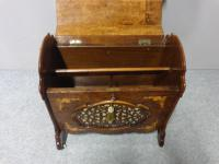 Superb Victorian Burr Walnut Inlaid Canterbury (4 of 12)
